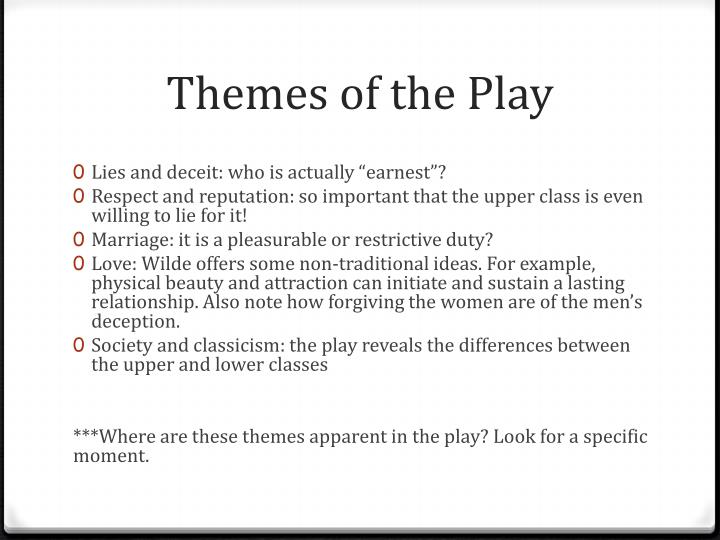 Themes of the Play