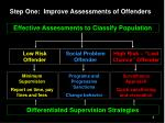 step one improve assessments of offenders