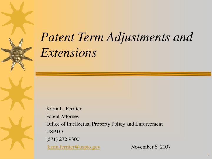 patent term adjustments and extensions n.