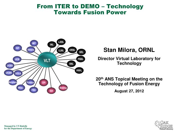 from iter to demo technology towards fusion power n.
