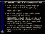 managing the state s fiscal challenges12