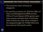 managing the state s fiscal challenges3