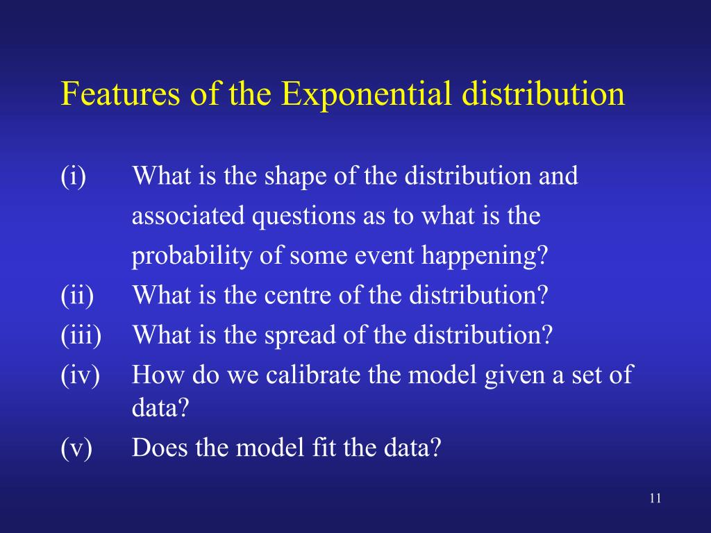 PPT - STAT131 Week 7 L1b Exponential Distribution