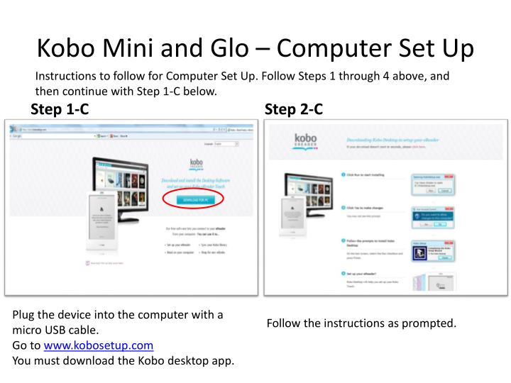 how to get kobo mini to connect to computer