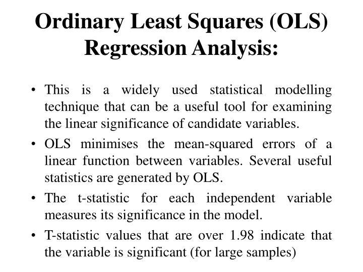 Ordinary Least Squares