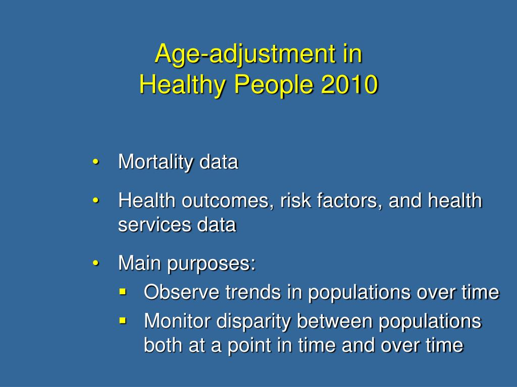 Age-adjustment in