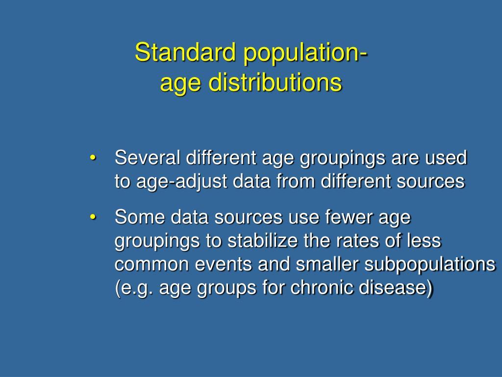Standard population-