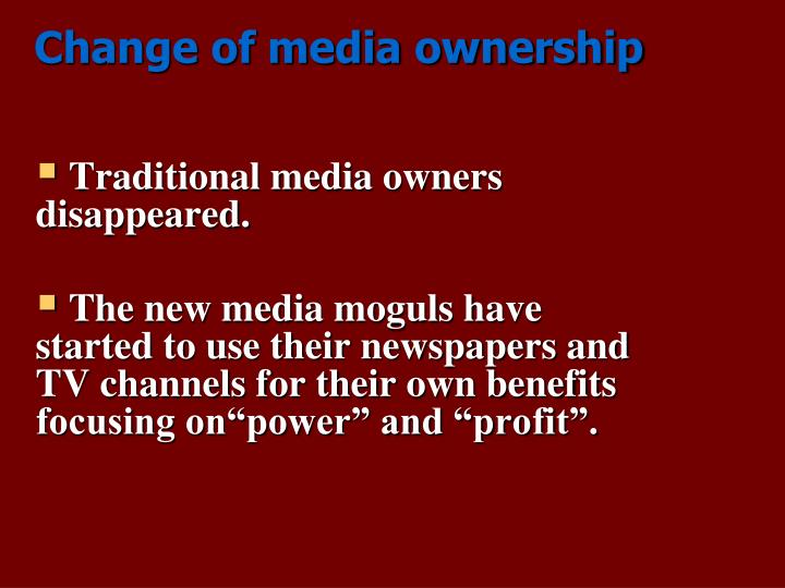 "does media ownership need to be regulated media essay Get help on 【 concentration of media ownership essay 】 on  the products that the media will produce since it is regulated,  ""media ownership-does it."