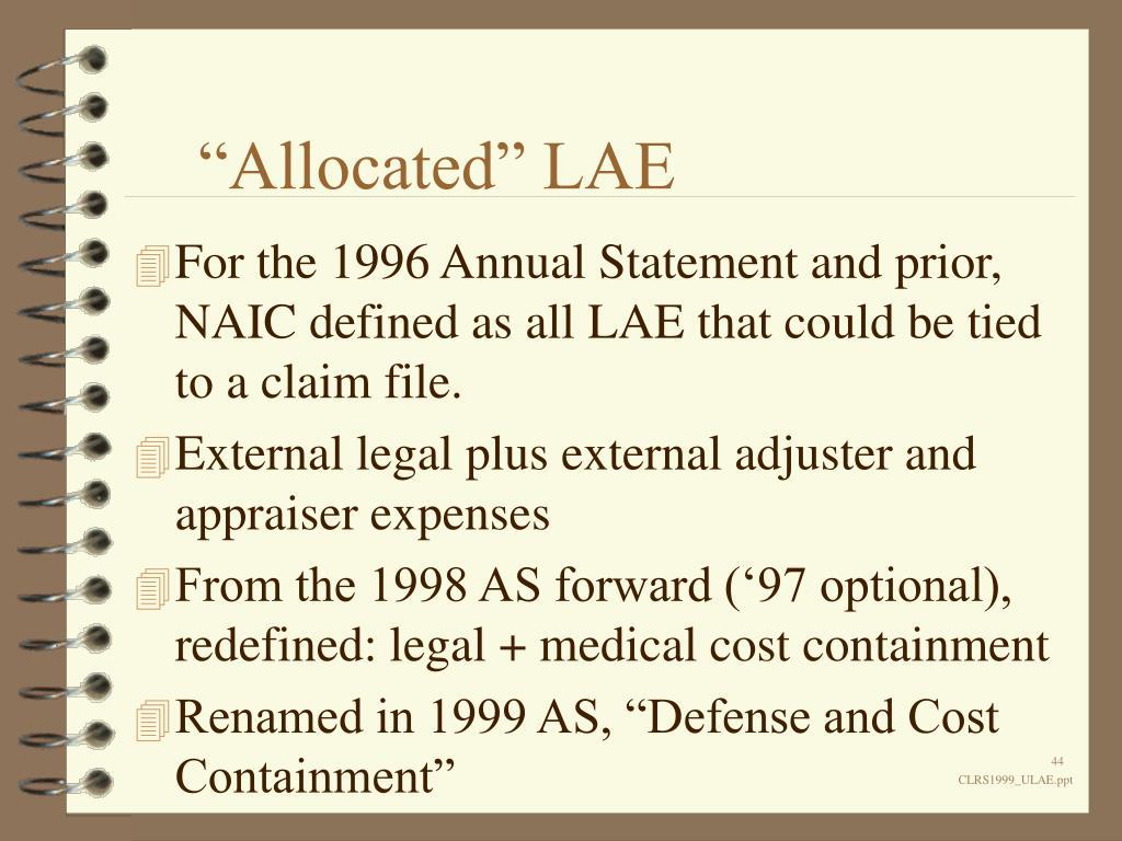 """""""Allocated"""" LAE"""