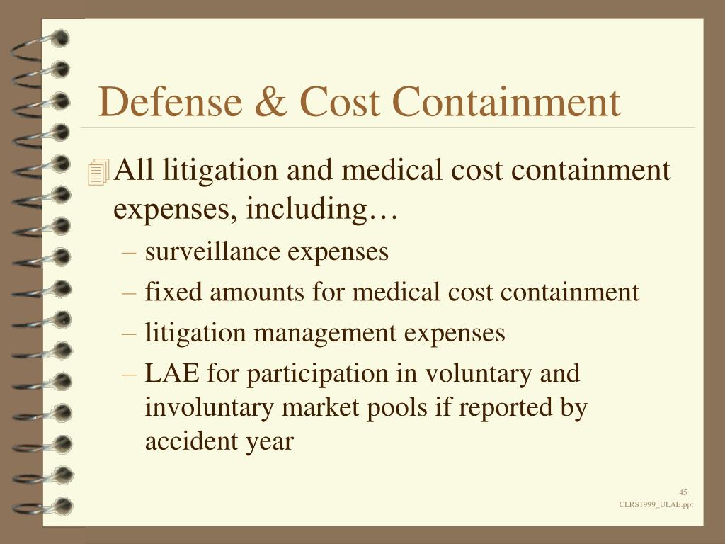 Defense & Cost Containment