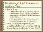 distributing ulae reserves to accident year37