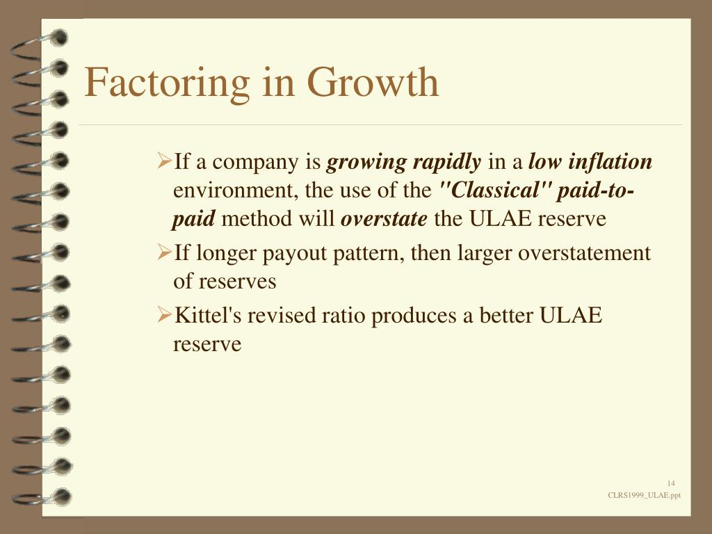 Factoring in Growth