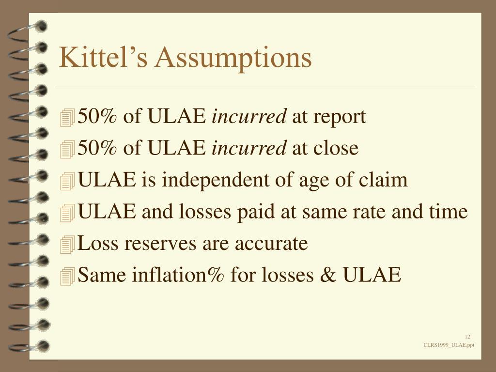 Kittel's Assumptions