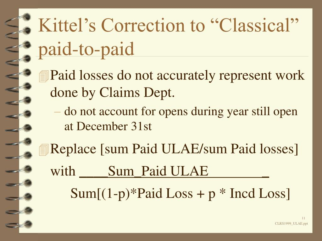 """Kittel's Correction to """"Classical"""" paid-to-paid"""