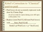 kittel s correction to classical paid to paid
