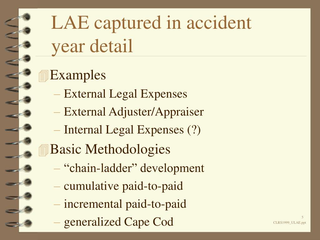 LAE captured in accident year detail