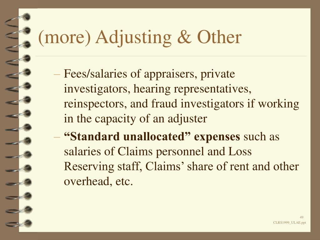 (more) Adjusting & Other