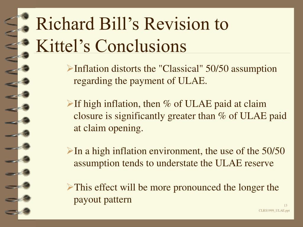 Richard Bill's Revision to Kittel's Conclusions