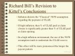 richard bill s revision to kittel s conclusions