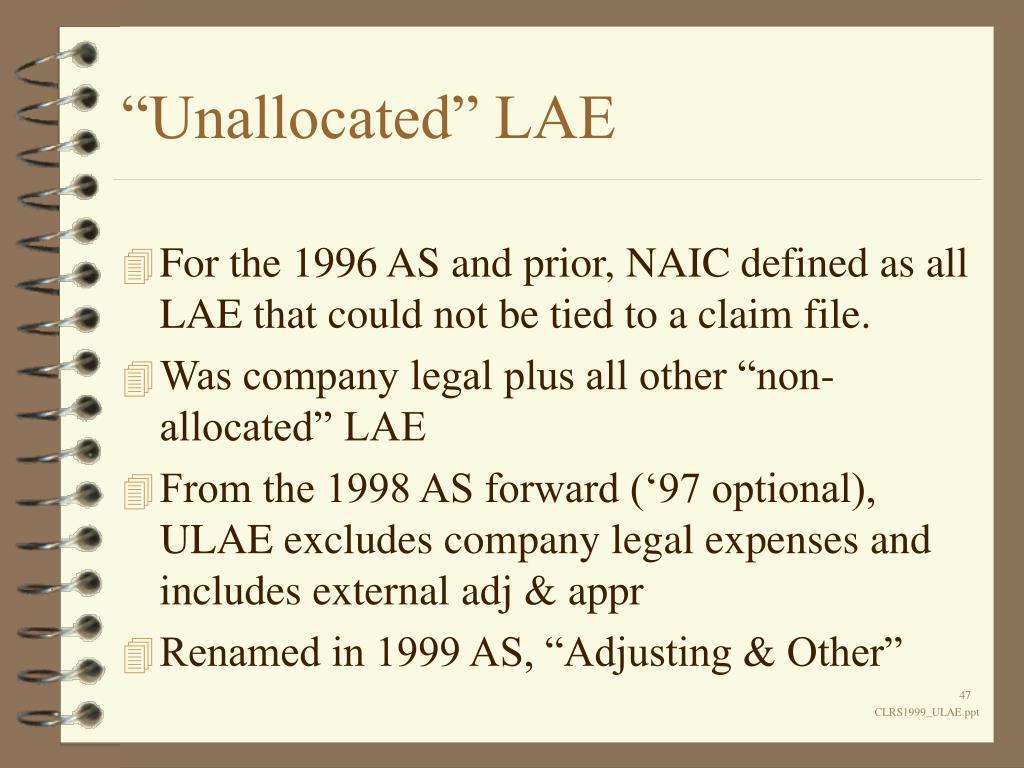 """""""Unallocated"""" LAE"""