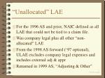 unallocated lae