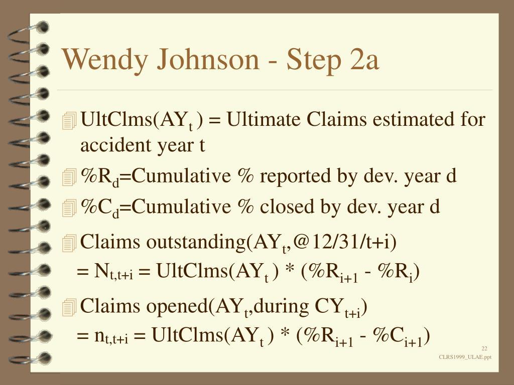 Wendy Johnson - Step 2a