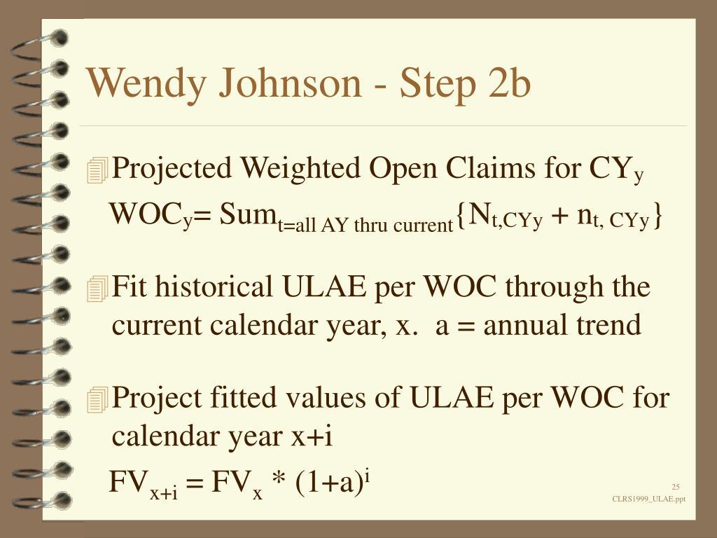 Wendy Johnson - Step 2b