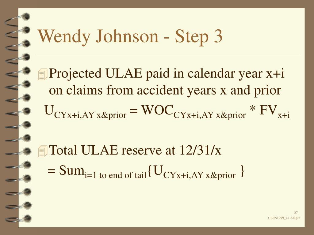 Wendy Johnson - Step 3