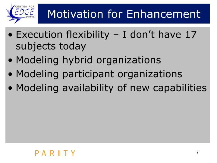 Motivation for Enhancement