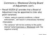 commons v westwood zoning board of adjustment con t
