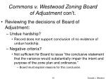 commons v westwood zoning board of adjustment con t10