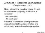 commons v westwood zoning board of adjustment con t11