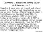 commons v westwood zoning board of adjustment con t3