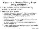 commons v westwood zoning board of adjustment con t6