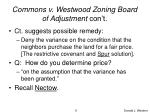 commons v westwood zoning board of adjustment con t9