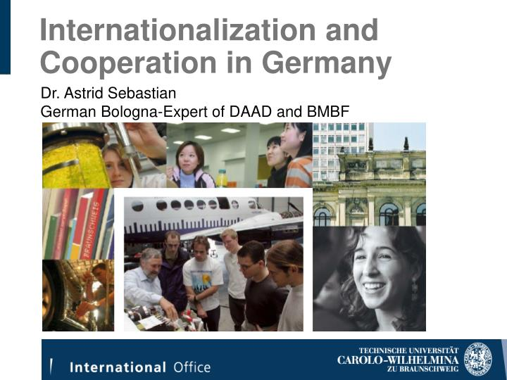 Internationalization and cooperation in germany