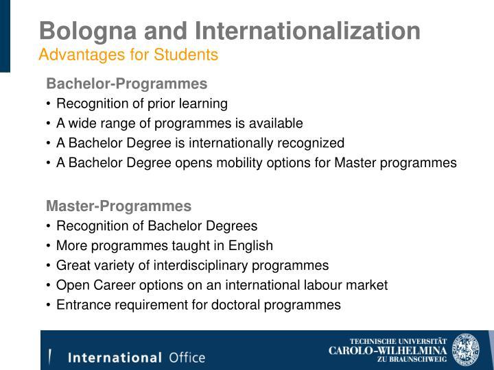 Bologna and Internationalization