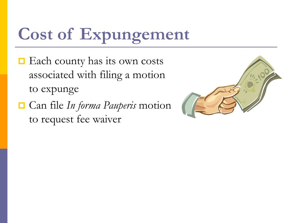 Cost of Expungement