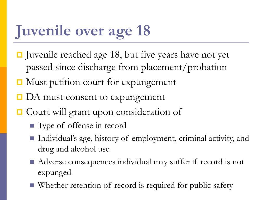 Juvenile over age 18