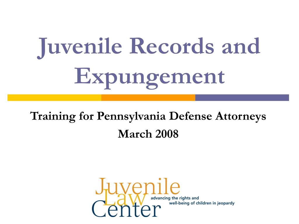 juvenile records and expungement l.