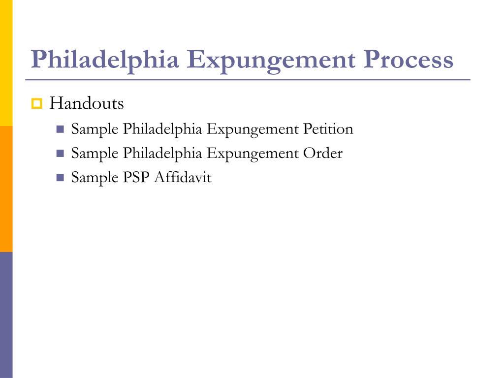 Philadelphia Expungement Process