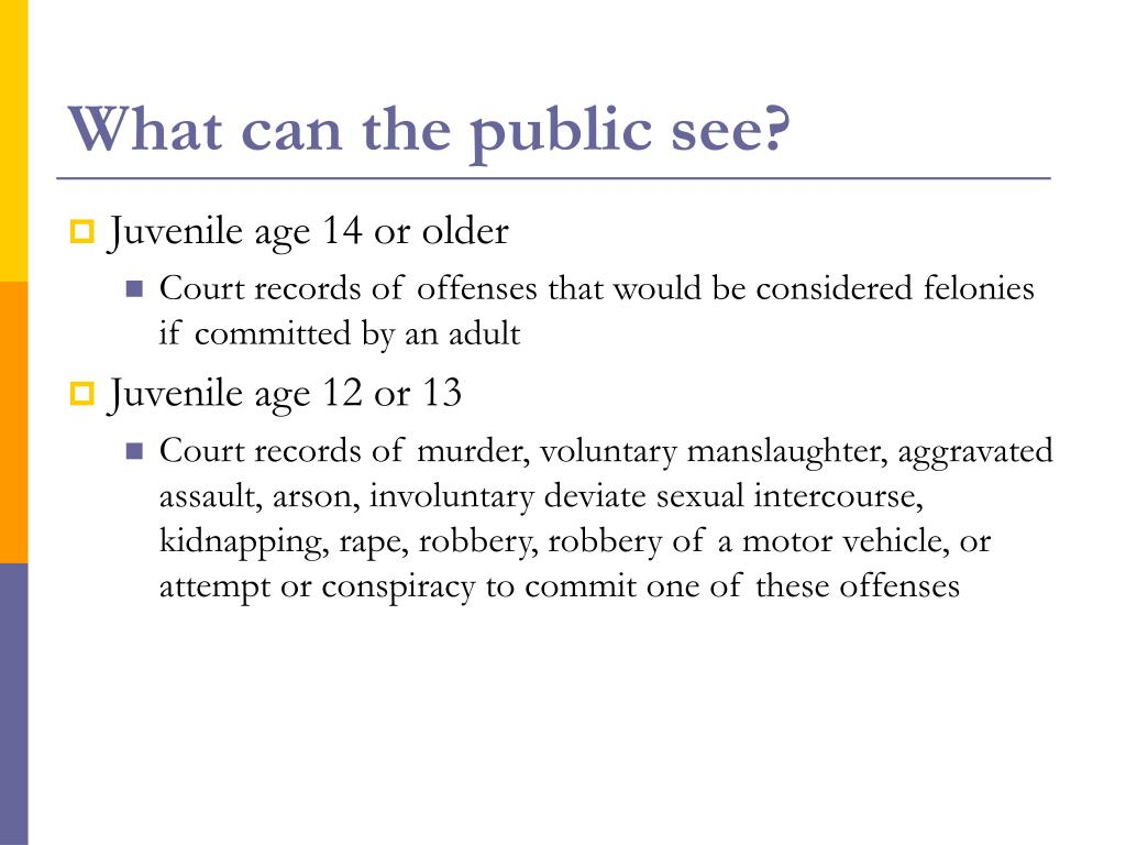 What can the public see?