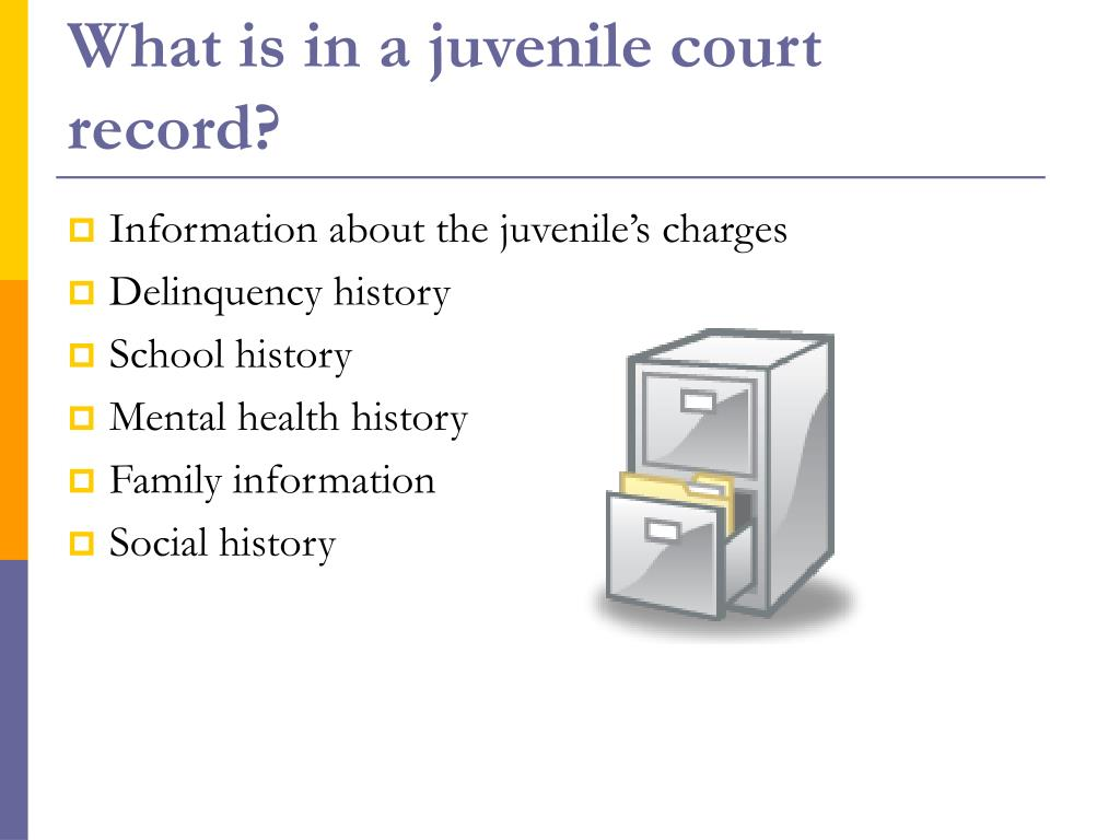 What is in a juvenile court record?