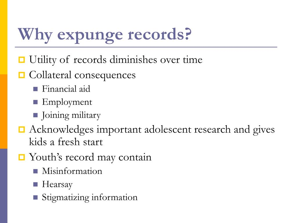 Why expunge records?