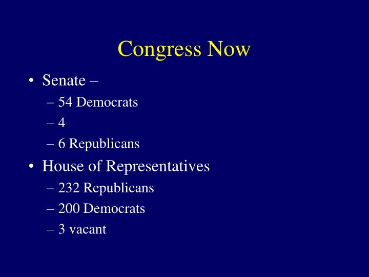 Congress Now