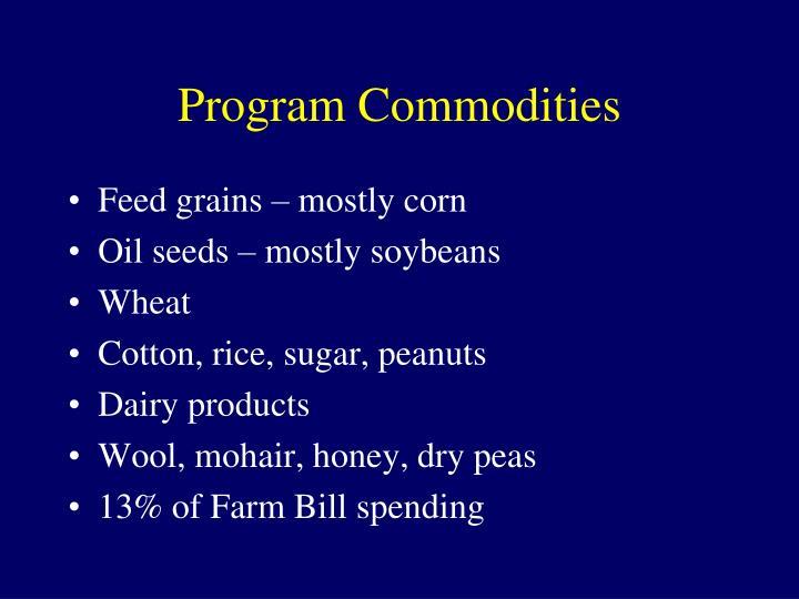 Program Commodities