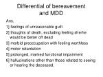 differential of bereavement and mdd