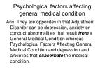 psychological factors affecting general medical condition
