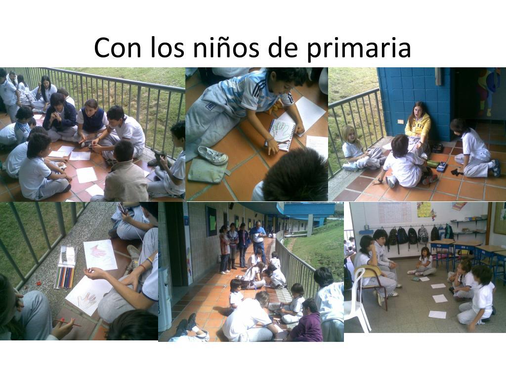 Con los niños de primaria