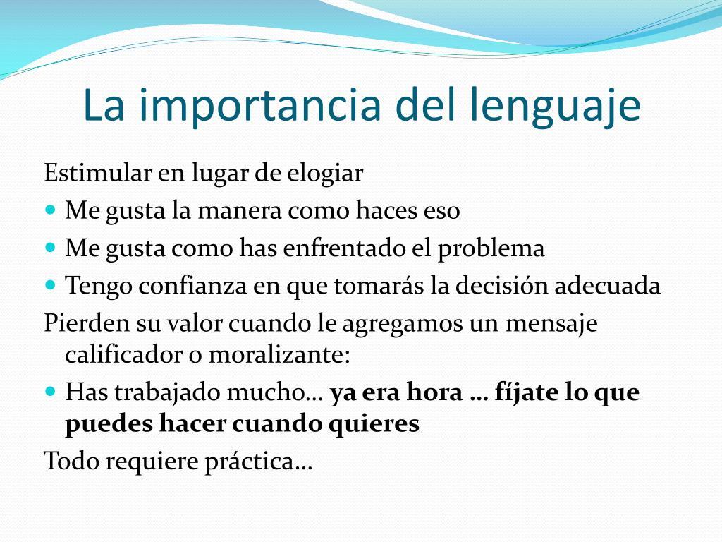 La importancia del lenguaje